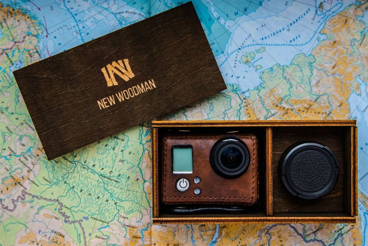 New Woodman. Leather case for GoPro