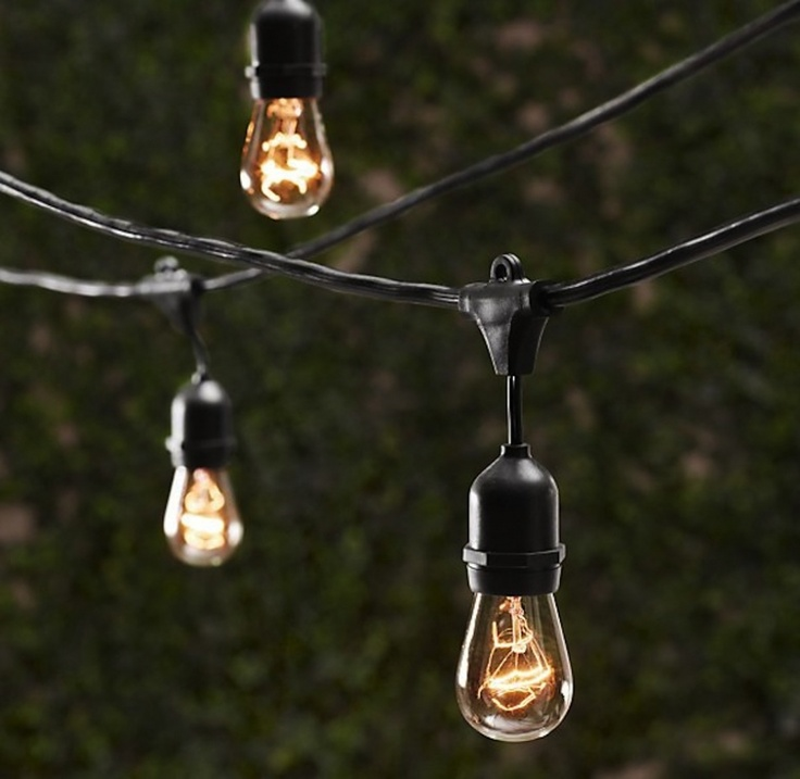 VINTAGE LIGHT STRING Author: Jack Archer Your home could benefit from some cozy restaurant ambiance and these vintage string lights are the perfect way to achieve that. Hang around your backyard for outdoor dinners and late night socializing.