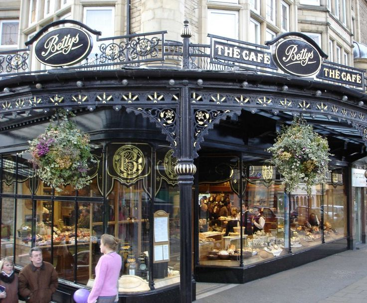 Yikes!  Betty's café in Harrogate, in Yorkshire.  Harrogate is about the size of Bath, not as large as Cheltenham.