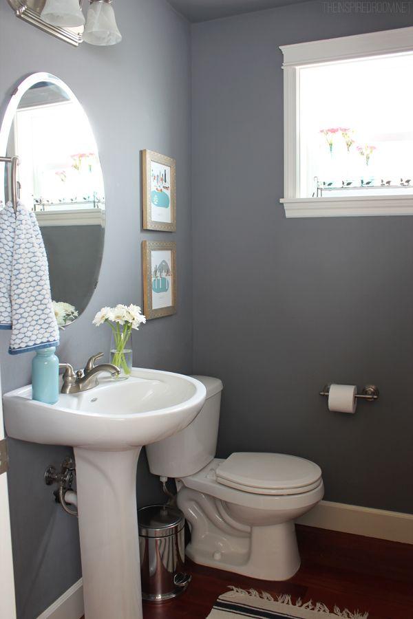 Powder Bath Progress. Kylee's bathroom in her condo. Walls. Seal Gray, Glidden