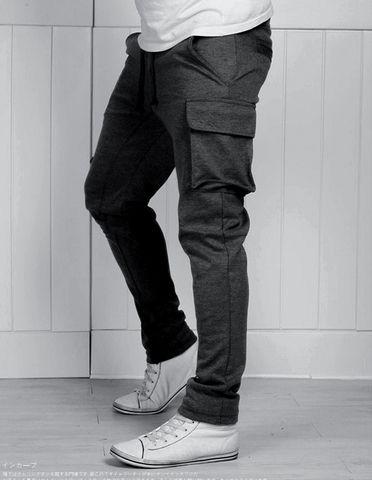 Спортивные штаны с карманами карго
