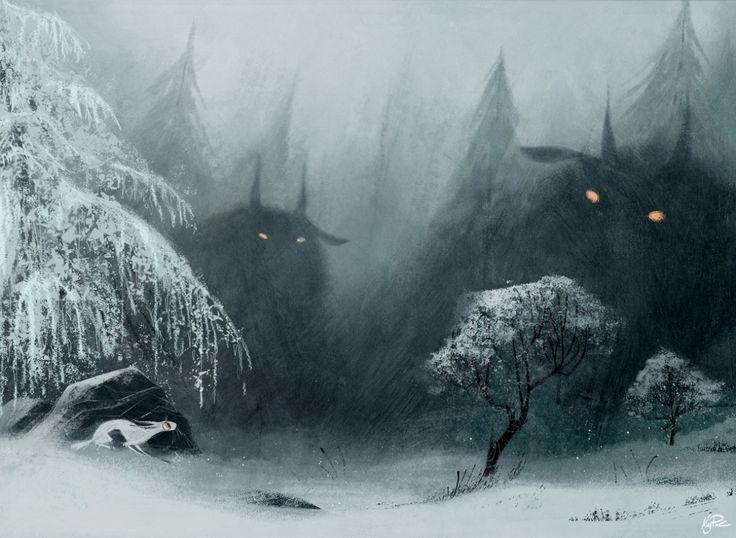 Winter monsters book illustration by Meg Park