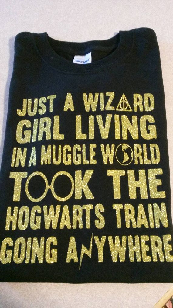 Harry Potter Shirt Wizard Girl Muggle World by HermionesHopechest