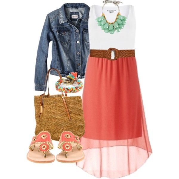 Coral Skirt - Plus Size by alexawebb on Polyvore