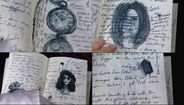 A Journal of Impossible Things...pencil, ink  dream journal featured in the Doctor Who episodes Human Nature (3x08) and The Family of Blood (3x09). In this two-parter, the Doctor rewrote his biology and became human in order to hide from the Family of Blood. The Doctor's human persona John Smith kept a journal where he wrote down and drew things he saw in his dreams, which were actually memories of his adventures as the Doctor.