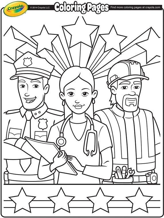 Labor Day Workers On Crayola Com Labor Day Crafts Coloring