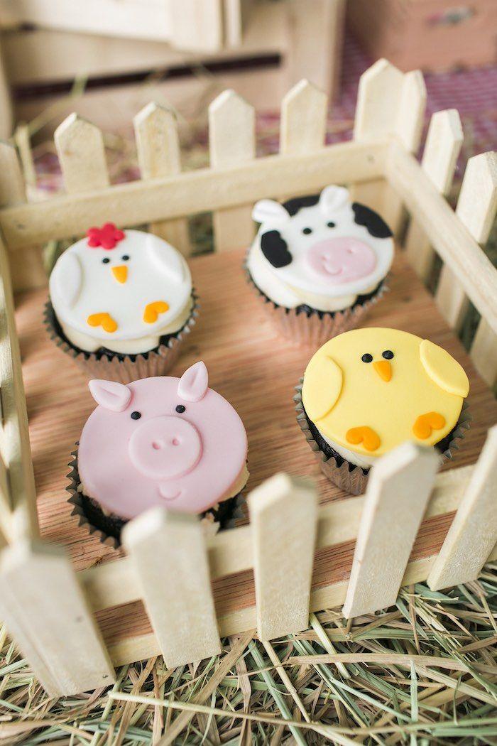 Fenced cupcakes from a Farm Birthday Party on Kara's Party Ideas | KarasPartyIdeas.com (33)