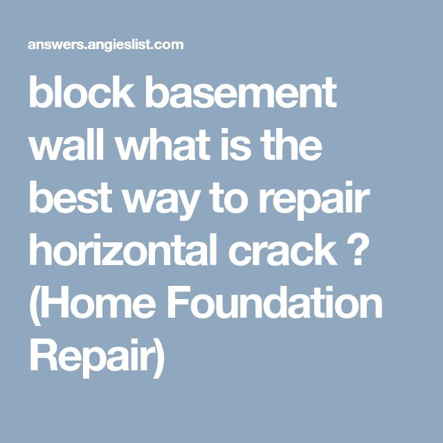 block basement wall what is the best way to repair horizontal crack ? (Home Foundation Repair)