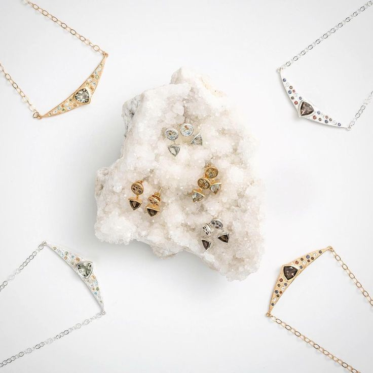 Our necklaces and studs from the collection A Trillion Kisses are great with many outfits, whether it's casual wear or for a more formal occasion 💎💎 . . . .  #uniquejustlikeyou #friendship #jewellery #nzdesign #gold #silver #necklaces #earrings #studs #gemstones #style