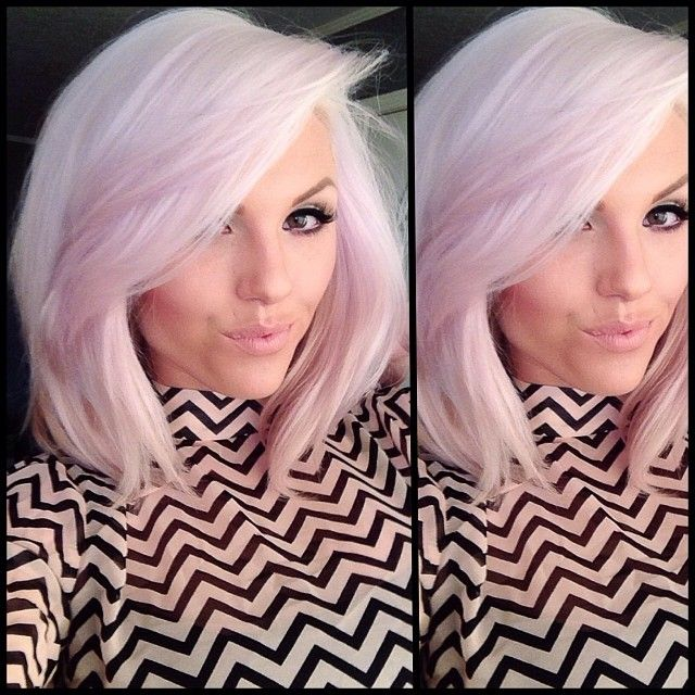 Amazing pink faded colored hair