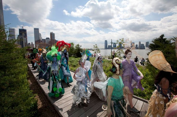Earth Celebrations Hudson River Pageant, New York City. Along boardwalk in Tribeca. Photo by William Bourasa Jr.