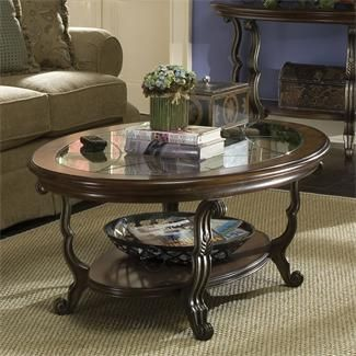 Ambrosia Oval Coffee Table | Shopping in Riverside Furniture Living Room Furniture