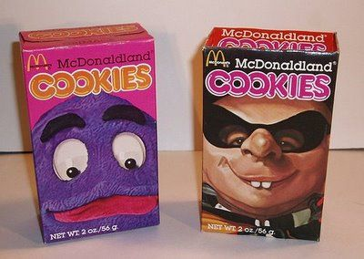 McDonaldland Cookies #80s #childhood...my kid don't believe these came in little packages in Happy Meals
