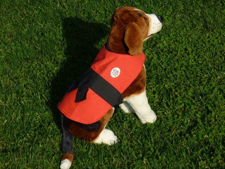 Dragon Ball/ Goku outfit for dog. Geek pet costume.