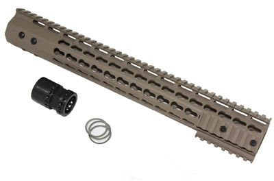 15' ULTRA LIGHT SUPER SLIM KEYMOD Handguard Free Float quad rail