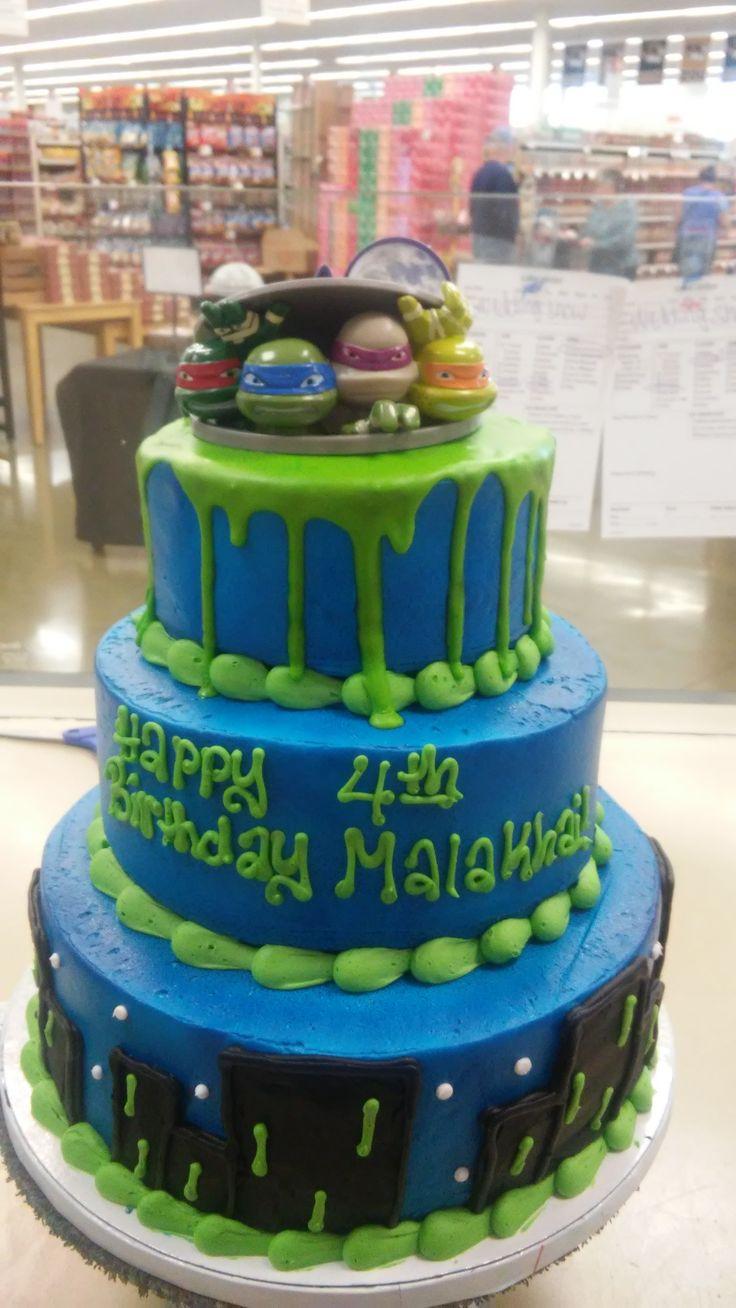 teenage mutant ninja turtle three tiered cake