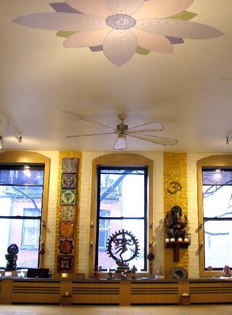 yoga studio meets...: Studios Design, Chakra Art, Lotus Flowers, Yoga Studios, Studios Ideas, Ceilings Art, Yoga Spaces, Ceilings Ideas, Chakra Healing