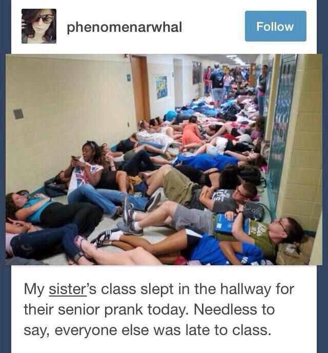 Grad prank