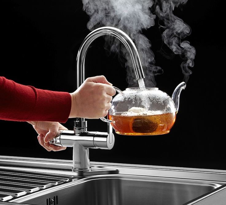 those lucky Brits!  Love this Franke boiling water tap!!