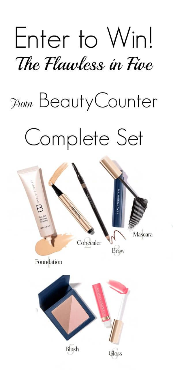 Flawless in Five has everything you need to get made up and glowing- in just 5 minutes!  Once you choose a skin tone for your foundation, it suggests the rest of the color palate for you. They're the experts, and I just took their suggestions.  When you buy these cosmetics as this set, you save...