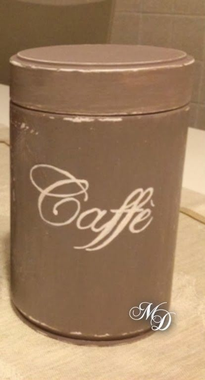 Recycled coffee jar