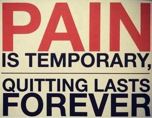 Pain always goes away...