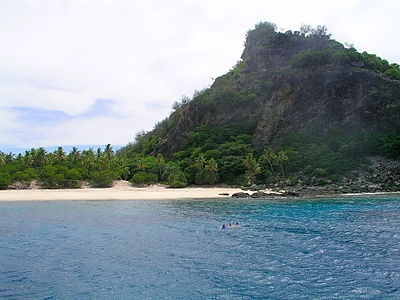 """La playa de Monuriki (Islas Fiji) fue testigo de cómo un """"Naufrago"""" se las ingeniaba para sobrevivir en una isla solitaria"""