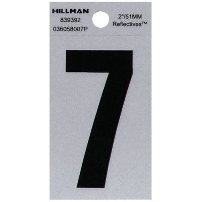 Hillman 2-in Reflective Black House Number