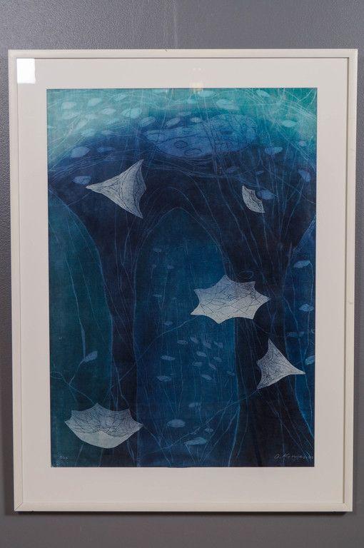 Outi Kirves, 1999, puupiirros, 96x67 cm, edition 3/20 - Huutokauppa Helander 05/2015