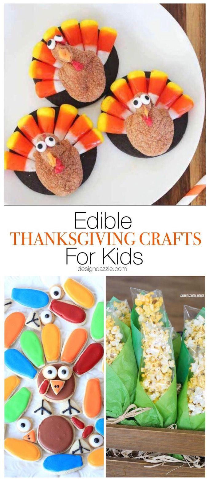 Edible Thanksgiving Crafts For Kids Thanksgiving Crafts Diy