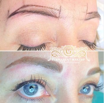 From whispy and barely there - to FULL ON CHAMPAGNE GORGEOUS! :D  Combo Brows using Champagne as the main tone  #pmu #PMUexpert #pmuprofessional #pmuspecialist #permanentmakeupt #professional #perfection #elegant #newshape #soft #makeover #pmubyG #permanent #browsonfleek #pmuartist #champagne #blueyes #happyclie