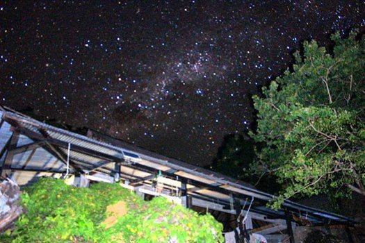 Milky Way above camp. No light pollution out here! Stunning photo taken by Brandon.  #madagascarvolunteer