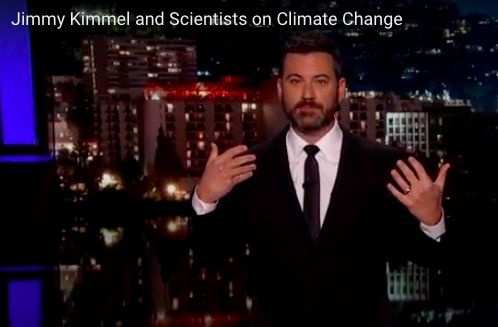 #JimmyKimmel schools #SarahPalin on #climatechange. If 97% of #climate scientists were, in fact, f**king with us, getting a PhD in climate #science is truly admirable prank commitment.