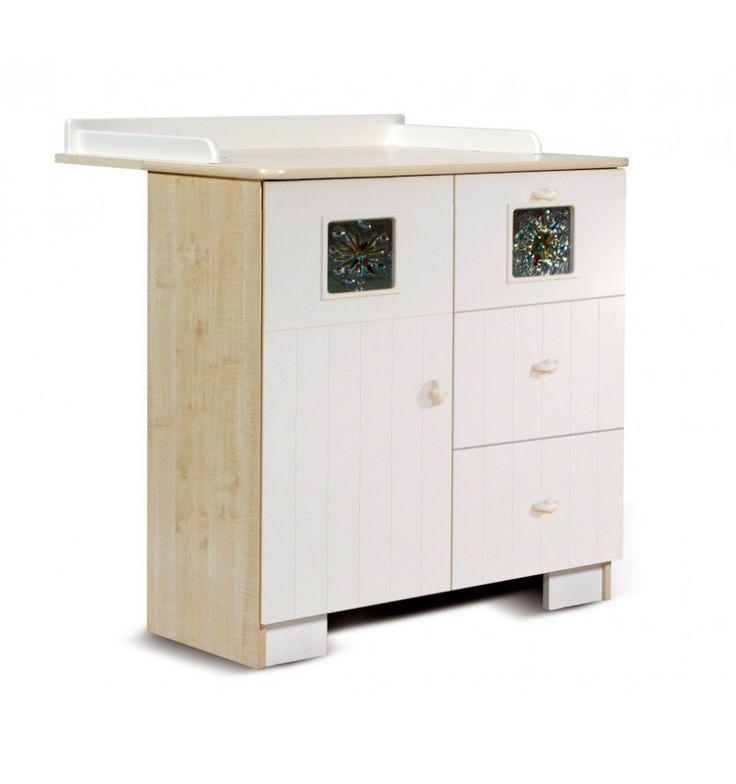 Table à langer avec commode évolutive KAMILLA- Table à langer avec commode design - Chambre bébé