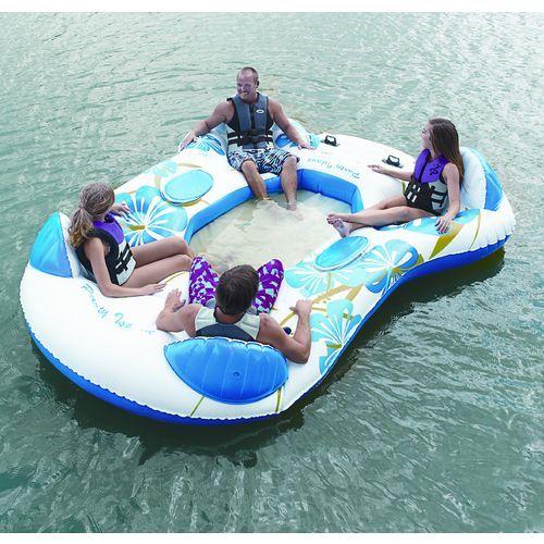Camping at the lake, take this! Splashin' Fun™ Party Island 4-Person Inflatable Lounge