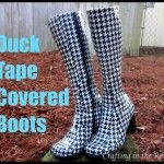 Make Duct Tape Covered Boots.would not leave my house in these.  But I will remember for when my weeklies get a hole again.