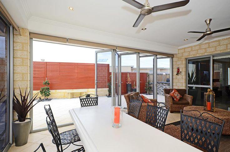 Aluminium bifold doors to enclose patio in Perth