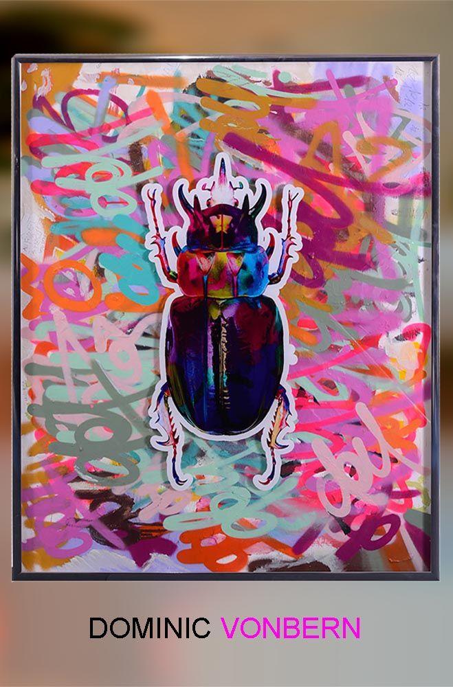Dominic Vonbern | Art for sale |  #Urban art #Street art #Beetles #graffiti