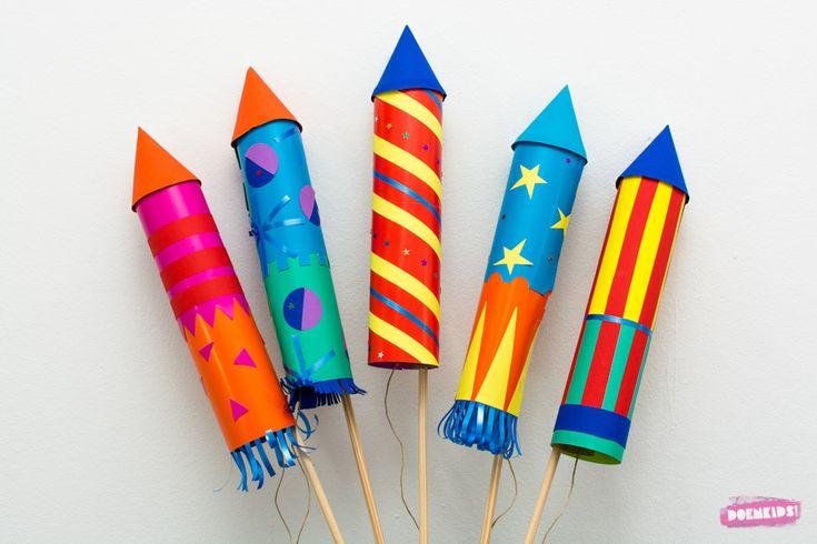 Knallend het nieuwe jaar in, dat kan met deze vrolijke vuurpijlen. Volkomen geluidloos en veilig, want bij dit vuurwerk knallen alleen de kleuren! De activiteit is geschikt voor zowel jongere als o…