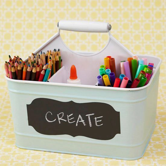 Cut clutter and save time with family-friendly organization ideas from @jen Jones: http://www.bhg.com/decorating/storage/organization-basics/easy-storage-kits/?socsrc=bhgRBstorage010613a