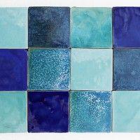 DEKORY KAFLE niebieskie , na ścianę