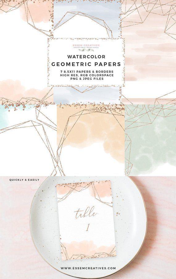 6e17f7cfbd8b Geometric Watercolor Borders