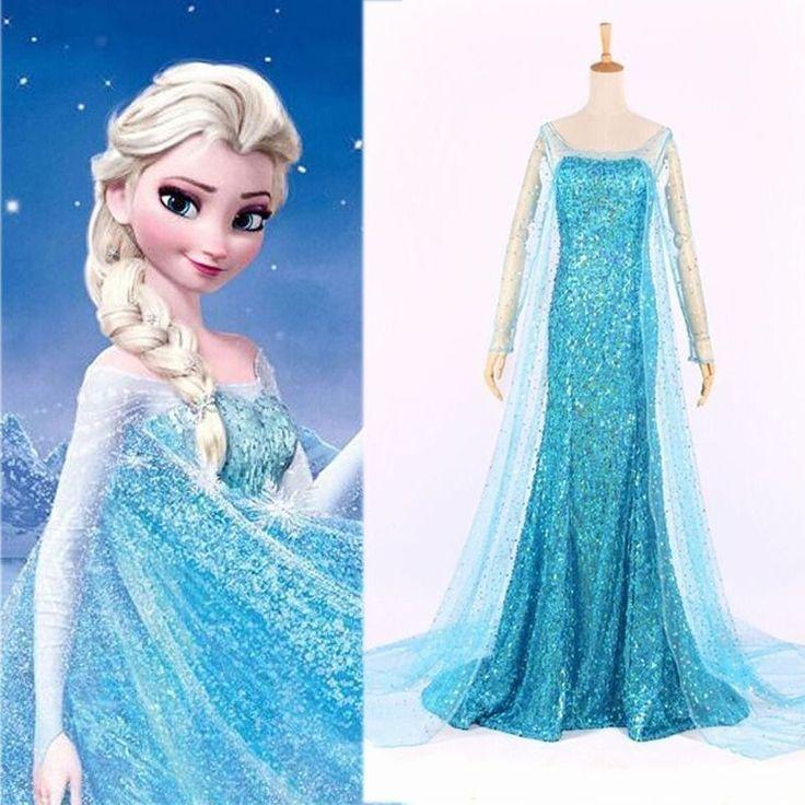 Erwachsene Frozen Princess Elsa Kostüm Ball Party Abendkleid Verkleidung Damen in Kleidung & Accessoires, Kostüme & Verkleidungen, Kostüme | eBay