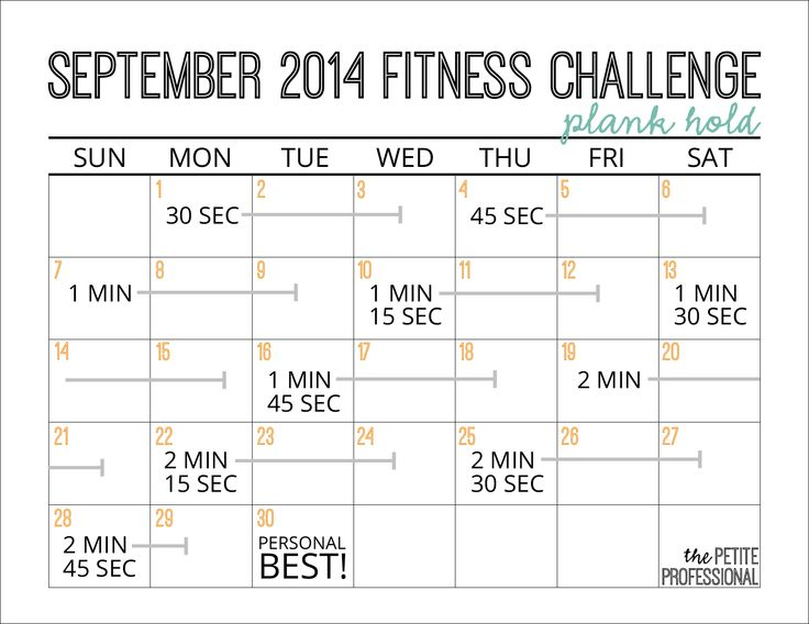 September 2014 Fitness Challenge: Plank Holds | The Petite Professional