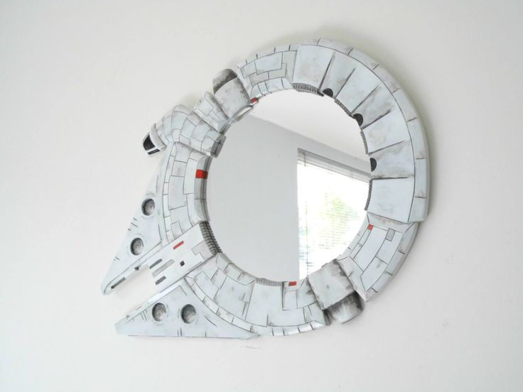 Mirror, mirror on the wall, who's the fastest ship of them all? Star Wars Millennium Falcon Mirror: http://j.mp/1DVAq3l by Funky Mirrors #StarWars