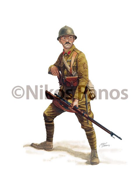HELLENIC (GREEK) ARMY UNIFORMS, 1915-1924 by Nikos Panos, via Behance
