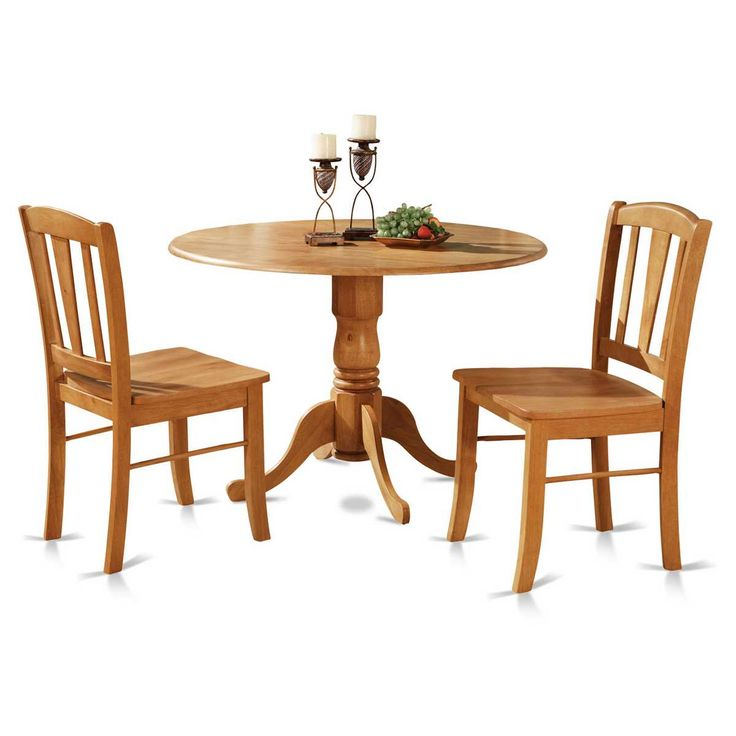 East West Furniture Dublin 3 Piece Drop Leaf Dining Table Set   Classic For  A Reason, The East West Furniture Dublin 3 Piece Drop Leaf Dining Table Set  Has ... Part 55