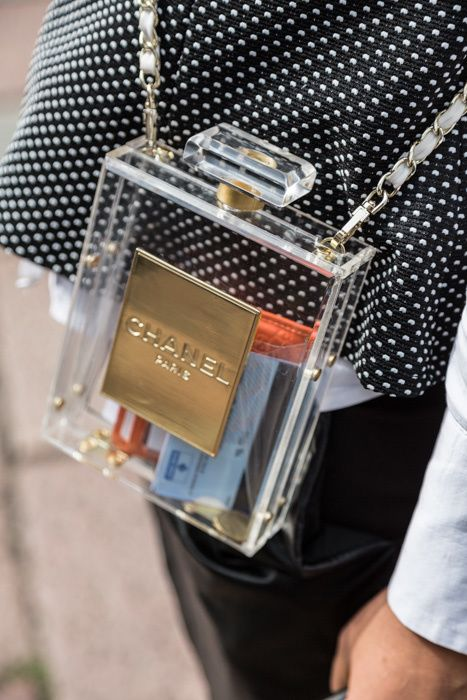 Chanel Perfume Bottle Chain Bag - Cruise 2014 - Milano Fashion Week 2014 - Milano - september 22, 2014 - fashion on streets - part 4