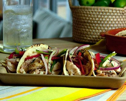Grilled Red Snapper Tacos with Jicama Slaw and Tequila Lime Dressing