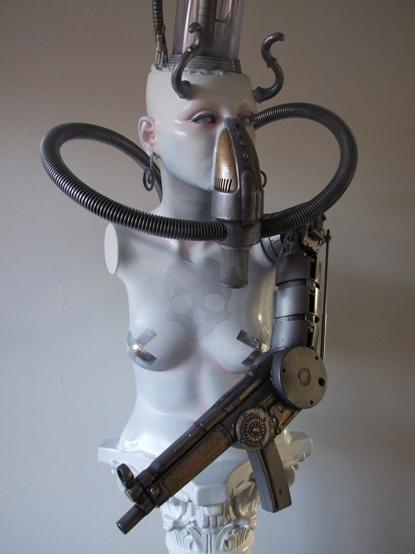 """Venus de Biomechanica""  Assemblage work by Jeugdstijl    height  172 cm"